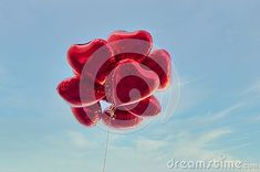 group-heart-shaped-red-air-baloon-blue-sky-clouds-valentine-s-day-romance-concept Blue Sky Clouds, Heart Shapes, Romance, Concept, Group, Outdoor Decor, Red, Romance Film, Romances