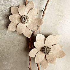 Winter Flower Tree Clip #WestElm