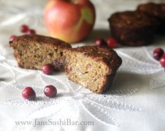 Apple- Cranberry Muffins.  They are tart and sweet and moist and delicious