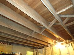 11 Doable Ways to DIY a Basement Ceiling Decor Painting basement ceiling Exposed basement ceiling Unfinished basement ceiling Finish Basement Ceiling, Basement Ceiling Insulation, Unfinished Basement Ceiling, Basement Walls, Basement Ideas, Yellow Ceiling, Colored Ceiling, Ceiling Decor, Ceiling Design