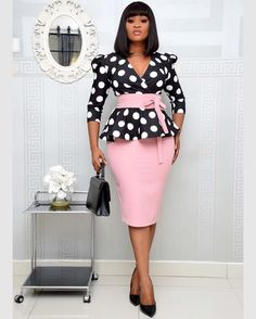 Classy Work Outfits, Classy Dress, Simple Dresses, Dresses For Work, Church Dresses, English Dress, Size 16 Women, Ladies Day Dresses, African Wear Dresses