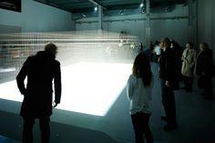 4分の映像作品の最後にグリッド全体が光り、来場者はそこではじめてグリッドの全体を目にすることができる。(撮影=大木大輔)