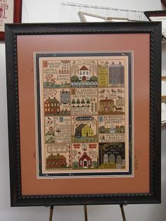 Framed by Jill Rensel Everything Cross Stitch, Cross Stitch Samplers, No One Loves Me, My Passion, Needlework, First Love, Embroidery, Frame, Stitching