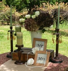 Great idea for table decor if you like the VINtageSHABbyRUStic look!