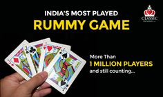 India's Most Played Rummy Game - More Than 1 Million Players and still counting...  #rummy #indianrummy #onlinerummy #freerummy #rummygame #cardgames #onlinegames