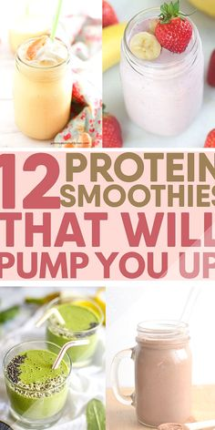12 Protein Smoothies to PUMP YOU UP Easy Recipe 12 Protein Smoothies to PUMP YOU UP Easy Recipe Marla Dycio goddessmomma Better living food ideas Best healthy high nbsp hellip cinnamon powder for weight loss Easy Protein Pump Recipe Smoothies High Protein Smoothies, Protein Smoothie Recipes, Smoothie Prep, Fruit Smoothies, Banana Protein Smoothie, Hemp Protein, Detox Breakfast, Breakfast Bowls, Morning Breakfast