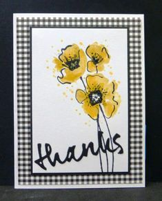 *CC510 Honey Flower Thanks by hobbydujour - Cards and Paper Crafts at Splitcoaststampers