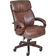 La-Z-Boy Executive Chair, Leather Mahogany Brown Leather Office Chair, Warm Color Schemes, Printer Stand, Roasted Chestnuts, Wrought Iron Patio Chairs, Small Accent Chairs, Executive Office Chairs, La Z Boy, Outdoor Dining Chairs