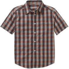 Faded Glory Boys' Short Sleeve Printed Woven Shirt, Size: 4/5, Silver