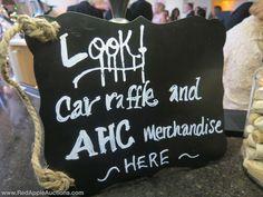 Signage for raffle