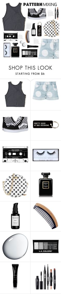 """""""Pattern Mixing"""" by belleshines ❤ liked on Polyvore featuring Hollister Co., STELLA McCARTNEY, Vans, Various Projects, Huda Beauty, Dolce&Gabbana, Chanel, Root Science, Clé de Peau Beauté and L.A. Colors"""