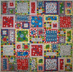 Dr. Suess Quilt. All the bright, contrasting colors make it a great floor blanket for babies.