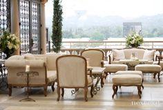 #108 #Beverly Hills #California #Wedding #Reception #Sofa #Candles
