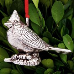 Cazenovia Cardinal Sterling Ornament