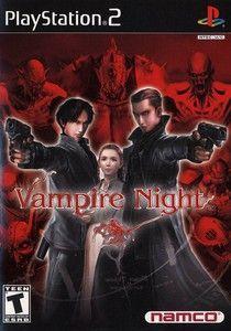 Vampire Night - PS2 Game Playstation 2, Retro Videos, Retro Video Games, Retro Games, Video Game News, Video Game Art, Juegos Ps2, Videogames, Vampire Games