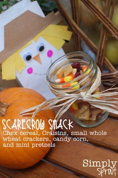 scarecrow snack perfect food for kids fall treats