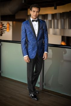 714d5e914132 Cobalt Blue Paisley - Aries from Jim's Formal Wear Wedding Tuxedo Styles,  Tuxedo Wedding,