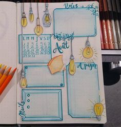 Creative Organization: Bullet Journal Monthly Spread Ideas. Bujo layout ideas. Planner Month at a Glance Inspiration #bujoinspire #bulletjournalmonthly