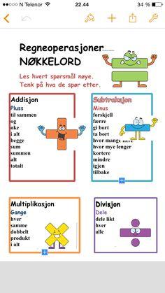 Matematikk Numeracy, Maths, Norway, English, Teaching, Education, My Love, School, Christmas