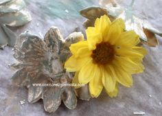 How to Make (and paint) Plaster of Paris Flowers using Silk Flowers.