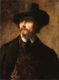 Man with a Hat (aka Self Portrait) (1853) - oil on canvas. Private collection.
