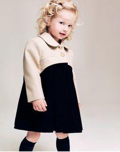 Erin Coat by Livly Fashion Kids, Toddler Fashion, Little Girl Dresses, Girls Dresses, Estilo Preppy, Kids Coats, Kid Styles, Kind Mode, Kids Wear