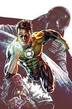 Green Lantern - cover of Secret Origins 3 - cover art by Lee Bermejo - DC Comics Green Lantern Dc, Green Lantern Sinestro, Green Lantern Hal Jordan, Green Lantern Corps, Dc Comics Characters, Dc Comics Art, Fun Comics, Marvel Dc Comics, Superhero Characters