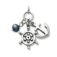Anchors Aweigh Pendant with Pearl at James Avery