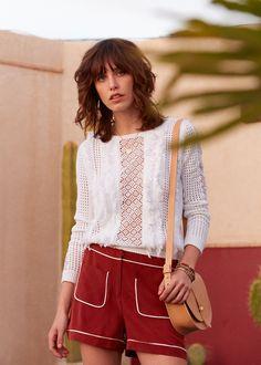 delicate fringe sweater