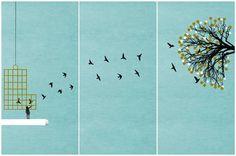 Freedom  - Triptych