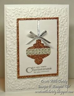 Stampin' Up! Christmas Ornament Card - Christy Fulk, Stampin' Up! Demo by christa