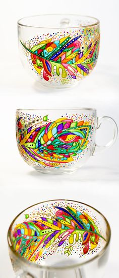 Mom Mug Mothers Day Gifts Feather Decor Large Coffee by Vitraaze