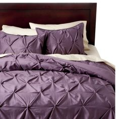 Threshold™ Pinched Pleat Comforter Set And I can be like mAriah