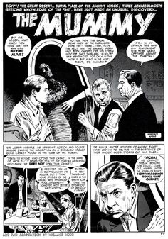 Russ Jones and Wally Wood  Adaptation of the 1931 movie,   The Mummy.