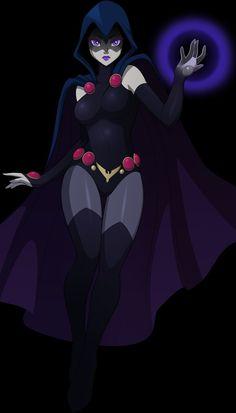 Raven by on DeviantArt Raven Comics, Dc Comics Art, Comics Girls, Marvel Dc Comics, Anime Comics, Teen Titans Raven, Teen Titans Fanart, Teen Titans Go, Raven Beast Boy