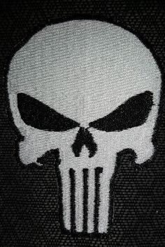 Punisher Embroidered Patch Iron On Punisher Patch by GoMonogram