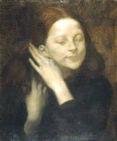 Retrato de su hija Eugene Carriere