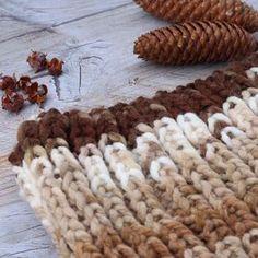 Cómo tejer un cuello de punto inglés. Knitting snood