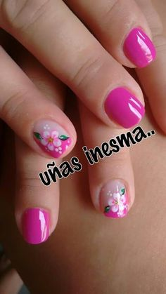 "This is pretty, but why would they say ""some nonsense"" across it? Toe Nail Art, Nail Art Diy, Toe Nails, Pink Nails, Acrylic Nails, Flower Nail Designs, Pedicure Designs, Toe Nail Designs, Crazy Nails"