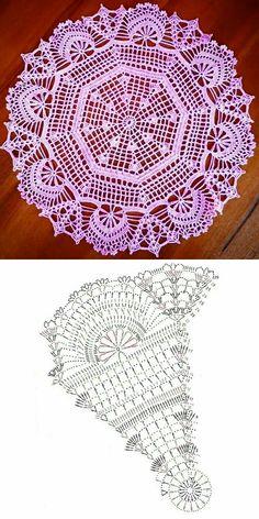 Free Crochet Doily Patterns, Crochet Doily Diagram, Crochet Circles, Crochet Mandala, Crochet Chart, Thread Crochet, Crochet Motif, Crochet Doilies, Unique Crochet