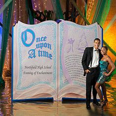 This free-standing Fairytale Story Book Standee is printed with your custom text and features the phrase Once Upon a Time.