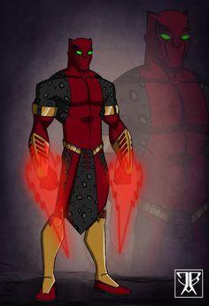 Jagwar OC Gift by DivineComics on DeviantArt Alien Character, Comic Character, Character Ideas, Comic Books Art, Comic Art, New Superheroes, Alternative Comics, Black Comics, Superhero Characters