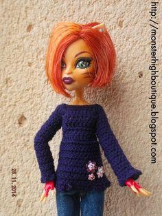 Ropa para Monster High: jersey J67 de For dolls boutique por DaWanda.com