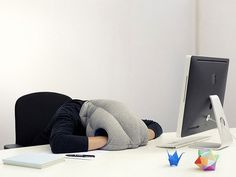 When You Need to Take a Nap At Your Desk   (OSTRICH PILLOW  by kawamura-ganjavian)