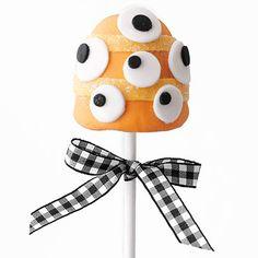 Orange Monster Brownie Pop        Googly eyes make this orange Monster Brownie Pop more silly than scary.