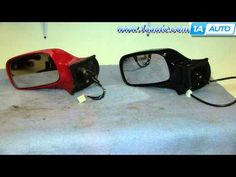 How To Install Replace Fix Broken Side Rear View Mirror 2000-05 Toyota Celica - YouTube