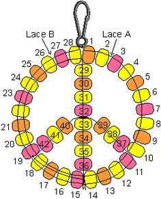Peace Sign Pony Bead Pattern