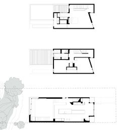 Toronto House [Williamson Chong Architects] : the angle in the facade makes a great reading nook in the corner, hidden behind the stairs, whilst is an effective piece on the front.