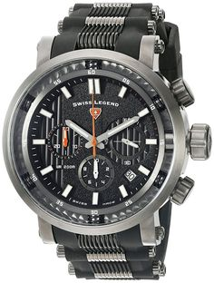 Swiss Legend Men's 'Dragonet' Swiss Quartz Stainless Steel Casual Watch (Model: 13838SM-GM-01-OA) -- Continue to the product at the image link.