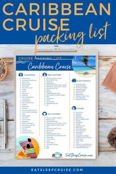 If you are planning a Caribbean cruise vacation, be sure to download our free printable packing list for what to wear and tips on what to bring to make your cruise the best and most comfortable it can be. No matter if it's a quick weekend cruise, a full 7-day cruise, or even an extended adventure, we can help you plan for everything. Take advantage of our experience and download your checklist today! Packing List For Cruise, Cruise Tips, Cruise Vacation, Packing Tips, Travel Packing, Cruise Excursions, Cruise Destinations, Caribbean Vacations, Caribbean Cruise
